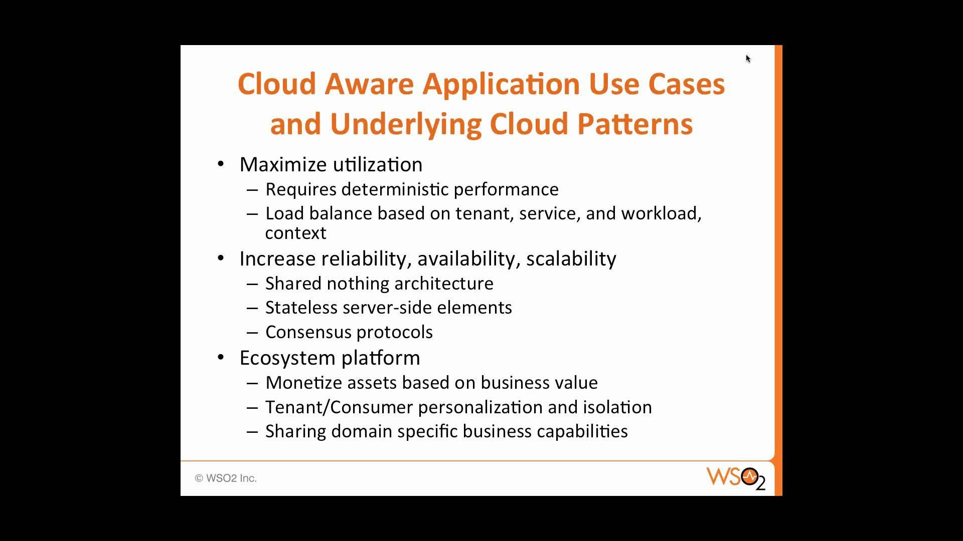 Building Cloud-Aware Applications