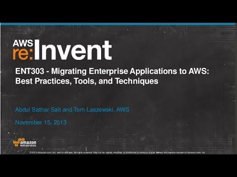 Migrating Enterprise Applications to Amazon Cloud