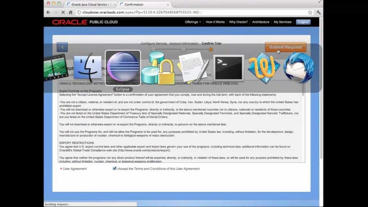 Oracle Public Cloud Java Service Demo